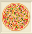 pizza in a box vector image vector image