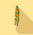 plumage feather icon flat style vector image vector image