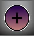 positive symbol plus sign violet gradient vector image vector image