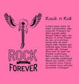 rock n roll music forever vector image vector image