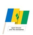 Saint Vincent and the Grenadines Ribbon Waving vector image