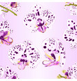seamless texture orchids phalaenopsis purple vector image vector image
