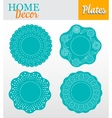 set 4 decorative plates for interior design vector image vector image