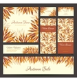 Set banners headers with autumn leaves