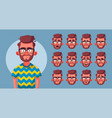 set characters emotions vector image