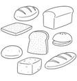 set of bread vector image