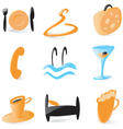 Smooth hotel service icons vector image vector image
