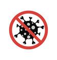 stop covid19-19 sign corona virus symbol vector image vector image