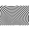 striped geometric spiral vector image vector image