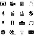 studio icon set vector image