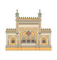 synagogue architecture building cartoon sketch vector image