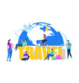 vacation travel or journey flat concept vector image vector image