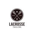 vintage seal badge lacrosse sport logo vector image vector image