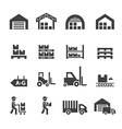 warehouse icon vector image vector image
