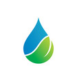 water drop leaf ecology abstract logo image vector image vector image