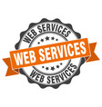 web services stamp sign seal vector image vector image