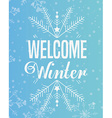 welcome winter design vector image