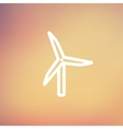 Windmill thin line icon vector image vector image