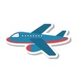 airplane fly isolated icon vector image