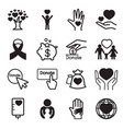 donation giving icons set vector image