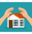 icon insurance house design vector image