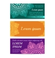 Banner with Floral mandala vector image