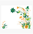 abstract floral pattern design vector image