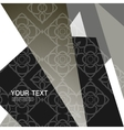 Abstract triangle pattern design vector image vector image