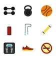 Active sport icons set flat style vector image vector image