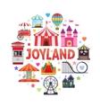 Amusement Park Round Design vector image vector image