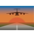 an airplane landing vector image vector image