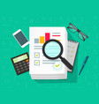 analytics data research analysis on big vector image vector image
