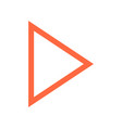 arrow sign navigation icon pointer symbol vector image vector image