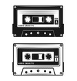 audio cassette tape two style vector image vector image