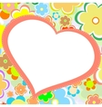 beautiful bright flower heart card vector image vector image