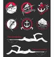 Big Set of Logos Badges and Icons Spearfishing vector image vector image