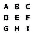 Black Ink Grunge Alphabet vector image vector image