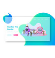 border guards protect territory landing page vector image vector image