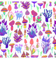 bright hallucinogenic decorative fantastic vector image vector image