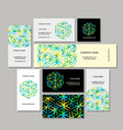 business cards design flower of life vector image vector image