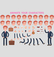 business man character creation set with various vector image vector image