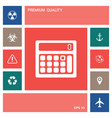 calculator symbol icon elements for your design vector image
