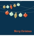 Christmas greeting card with garland of Christmas vector image