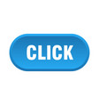 click button click rounded blue sign click vector image vector image