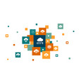 cloud computing infographic 10 steps pixel design vector image vector image