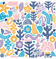 Collage style seamless repeat pattern with