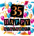 color 35 th birthday celebration vector image