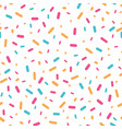 colorful confetti sprinkles seamless pattern vector image