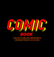 comic book style font alphabet letters and numbers vector image vector image