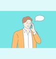 communication mobile conversation technology vector image